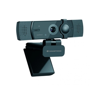 Conceptronic AMDIS08B 4K con Enfoque Automático y Doble Micrófono  Webcam