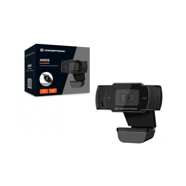 Conceptronic Amdis 720P USB con micrófono  Webcam