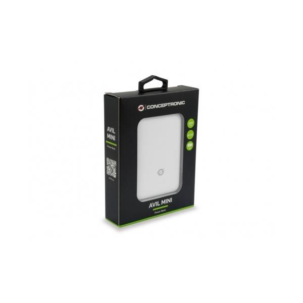 Conceptronic PowerBank Avil 5000mAh Blanco  Batería