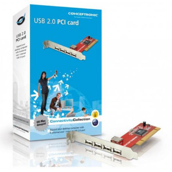 Conceptronic C480i5 Tarjeta PCI 5USB20  Adaptador PCI