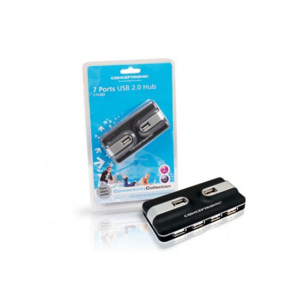 Conceptronic C7USB2 HUB 7 Puertos alimentado Adaptador USB