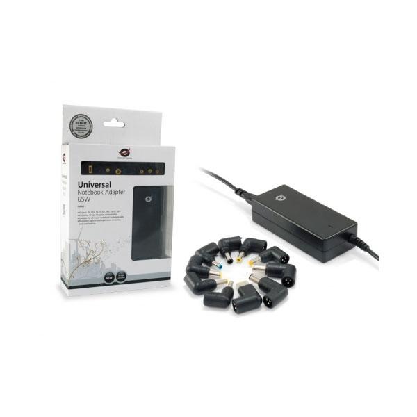 Conceptronic Adaptador universal de portátil 65W – Cargador