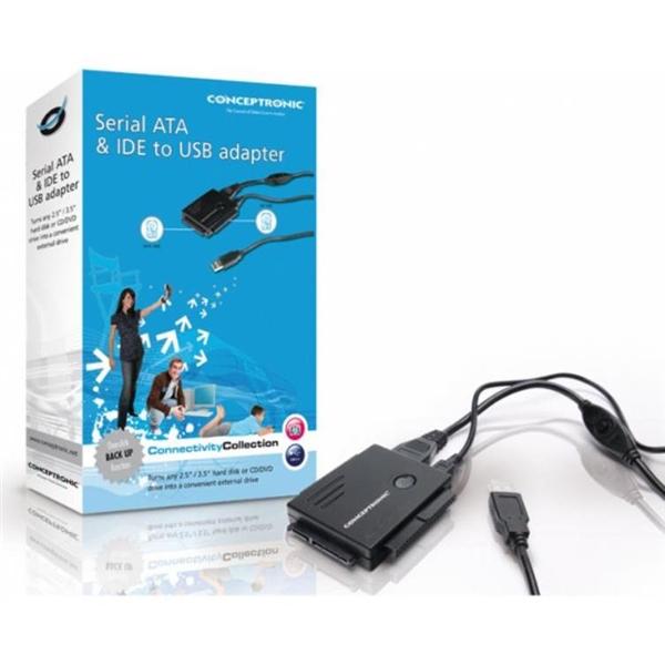 Conceptronic CSATAI23U SATA + IDE a USB – Adaptador USB