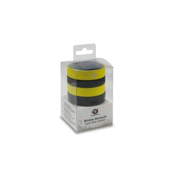 Conceptronic negro amarillo BT micro SD y radio - altavoz