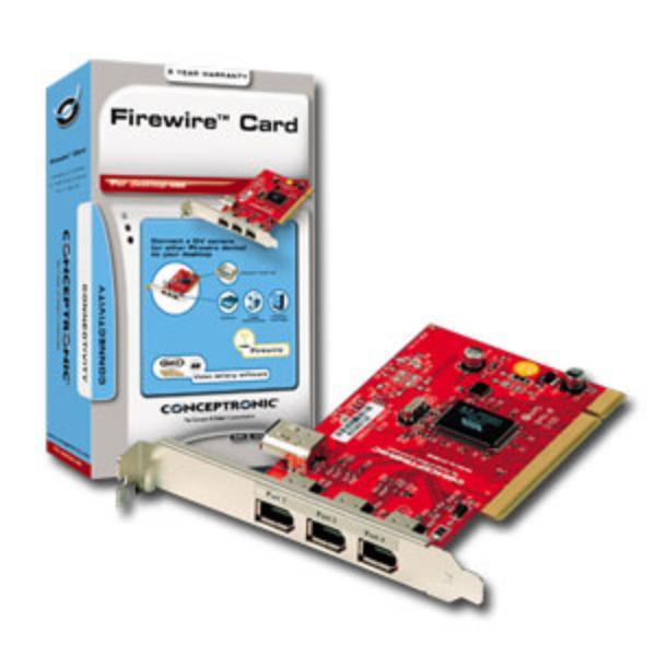 Conceptronic Ci1394B Tarjeta PCI 3FW  Adaptador PCI