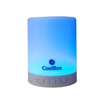 COOLBOX ALTAVOZ BLUETOOTH LAMPARA LED BLANCO