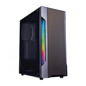 Coolbox Deep Gaming DGCA195 Cristal Templado RGB USB 30 Gris  Caja