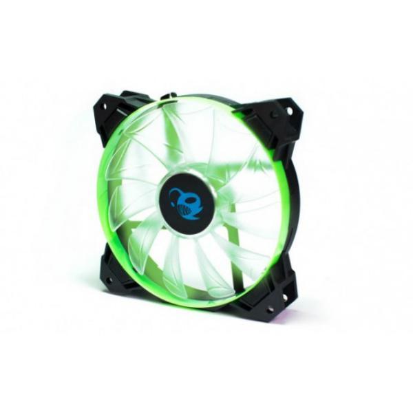 Coolbox Deepgaming Deepwind 12X12 LED verde  Ventilador