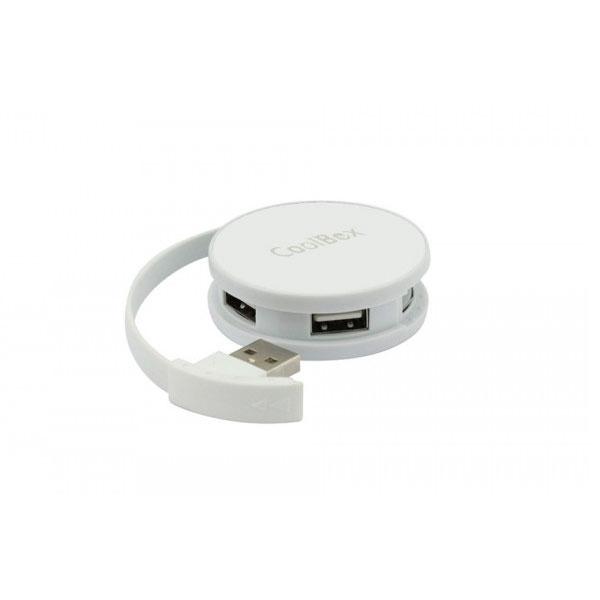 Coolbox 4 puertos USB 2.0 blanco - Hub