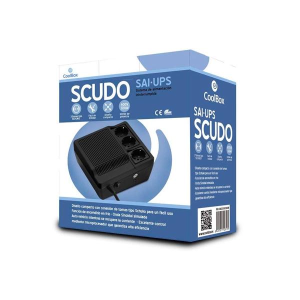 Coolbox SAI 600VA Scudo 3 Tomas Schuko - SAI