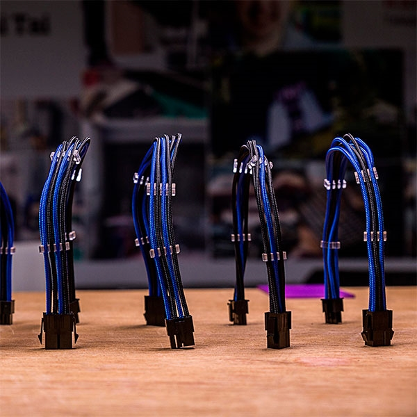 Cooler Master mod cable KIT azul/negro - Extension cable F.A