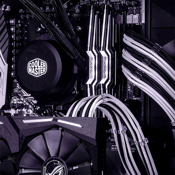 Cooler Master mod cable KIT blanco/negro - Extension FA