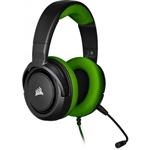 Corsair HS35 stereo verde  Auriculares