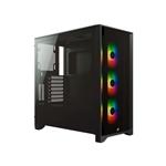 Corsair 4000X iCUE ARGB Black  Caja