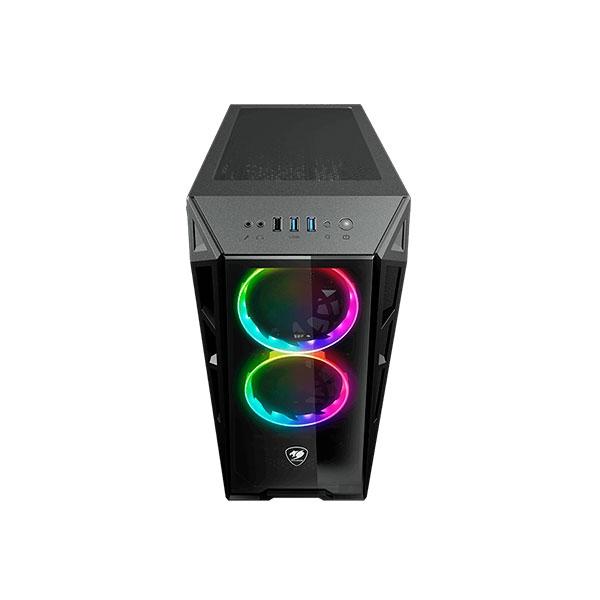 Cougar Turret RGB TG negra  Caja