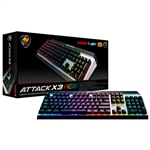 Cougar Attack X3 RGB Gaming Cherry MX Red – Teclado