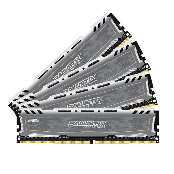 Crucial Ballistix Sport LT DDR4 2666MHz 64GB(4×16)C16z – RAM