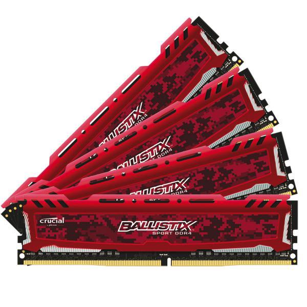 Crucial Ballistix Sport LT DDR4 2666MHz 32GB(4×8) C16 – RAM