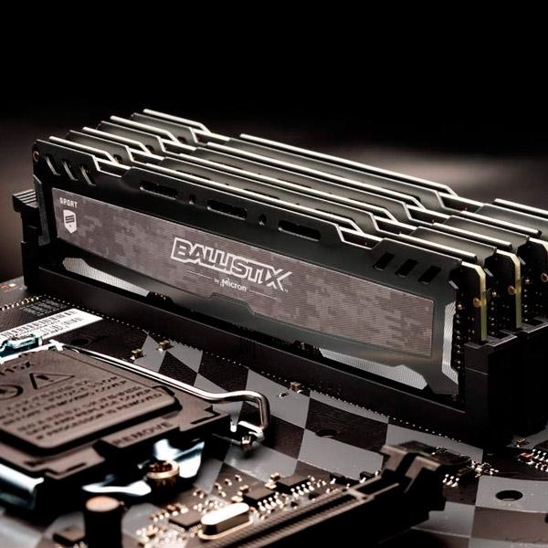 Ballistix Sport LT Gray DDR4 3000MHz 8GB CL15  Memoria RAM