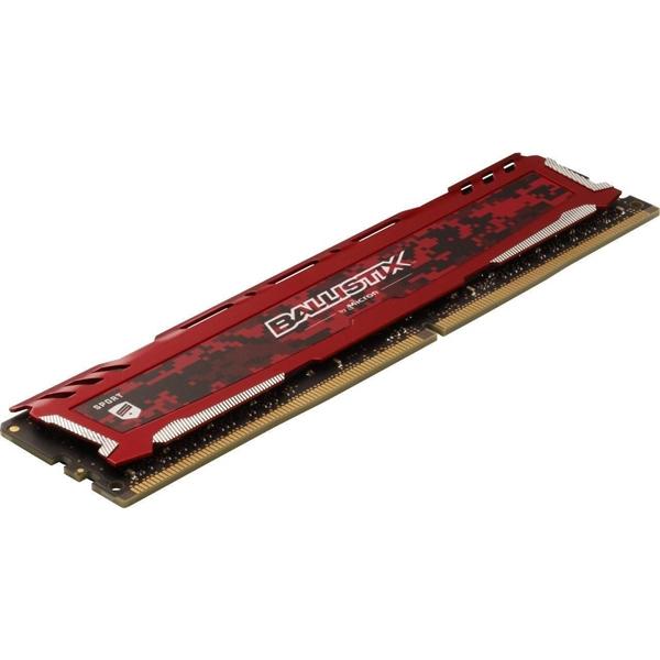 Crucial Ballisitx Sport DDR4 3200MHz 8GB CL16 Roja  Memoria