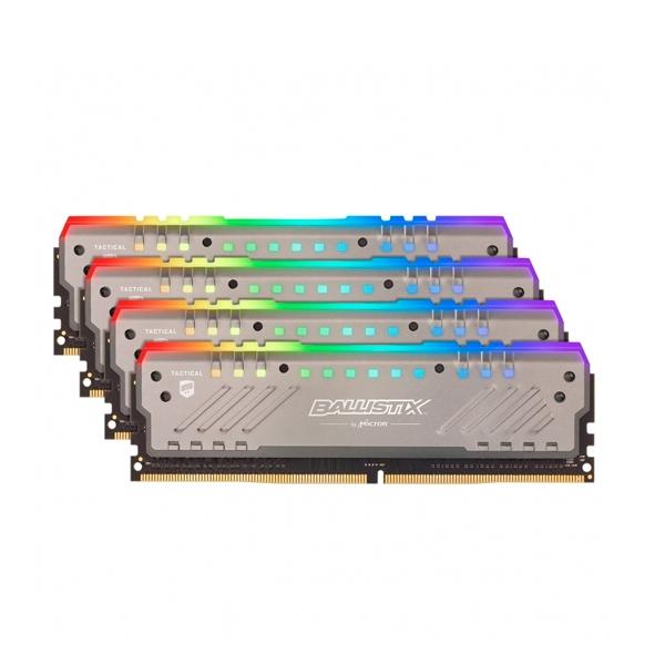 Ballistix Tracer RGB DDR4 2666MHz 32GB 8GBx4  Memoria RAM
