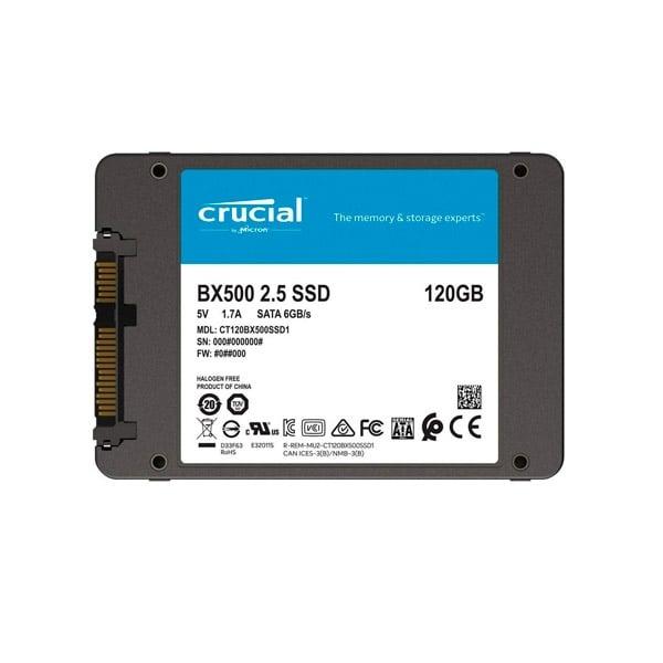 """Crucial BX500 SATA 2,5"""" 120GB - Disco Duro SSD"""