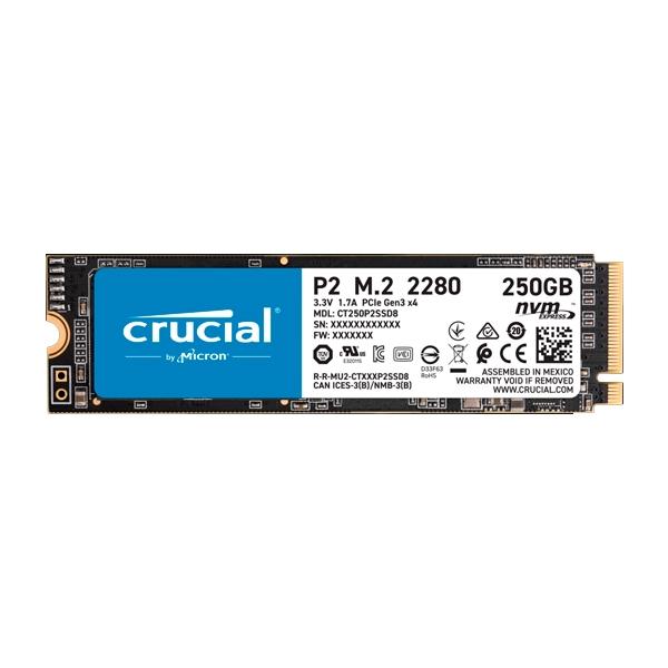 Crucial P2 250GB 3D NAND NVMe PCIe M.2 - SSD
