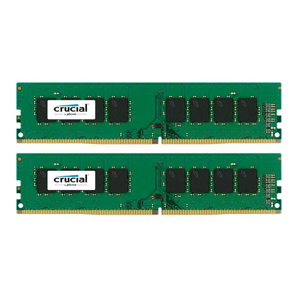 Crucial DDR4 32GB (2×16 GB) 2133MHz UDIMM – Memoria DDR4