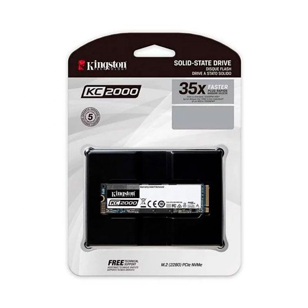Kingston KC2000 250GB M2 NVMe PCIe  Disco Duro SSD