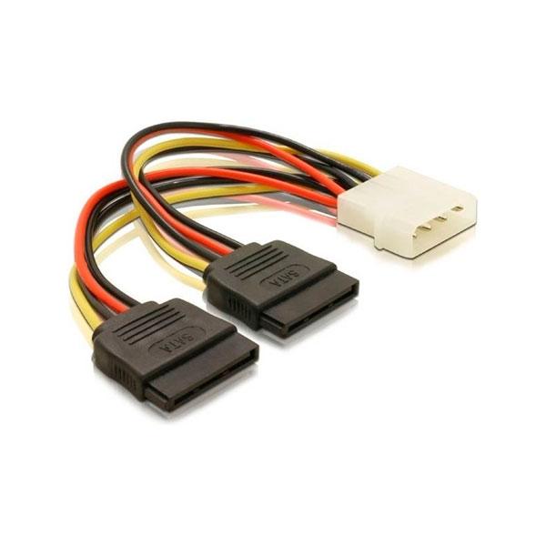 Delock Adaptador 1 Molex a 2 SATA 0.1m - Adaptador