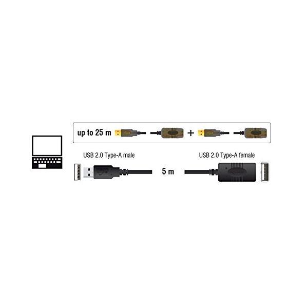 DELOCK  cable prolongador USB 20 5 metros
