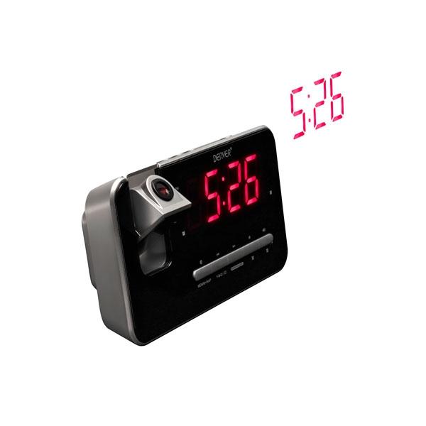 DENVER CRP-618 Radio FM Proyeccion Hora - Despertador