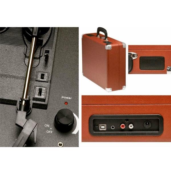 DENVER VPL120 USB Software Grabacion Marron  Tocadiscos