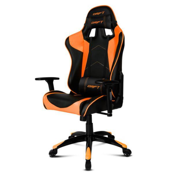 Silla Gaming Drift DR300 Negro y Naranja – Silla