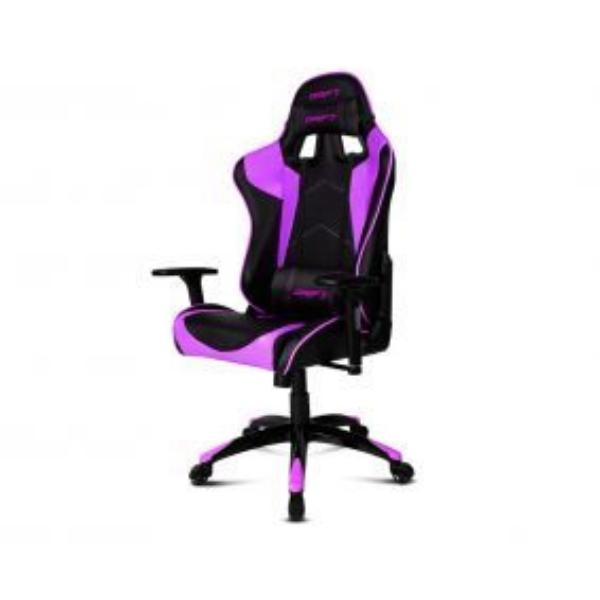 Silla Gaming Drift DR300 Negro y Purpura- Silla