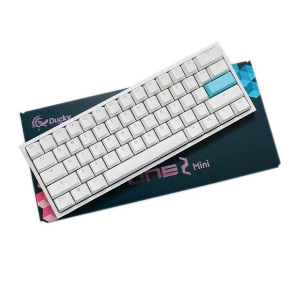 Ducky One 2 Mini Pure White RGB MX Brown Layout ES  Teclado