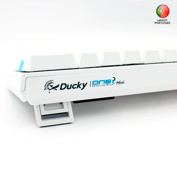 Ducky One 2 Mini Pure White RGB MX Brown Layout PT - Teclado