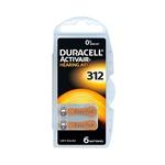 Duracell Pilas Hearing Aid DA312 145V 6 unidades