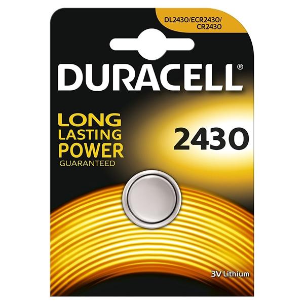 Duracell Pila Botón Litio CR2430 3V 1 unidad