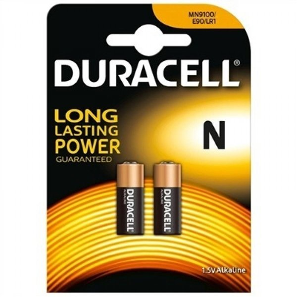Duracell Pila Alcalina MN9100 N LR1 1,5V 2 unidades
