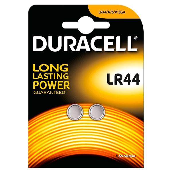Duracell Pila Botón Alcalina LR44 1,5V 2 unidades