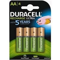 Duracell Pilas Recargables AA 2400mAh 4 unidades
