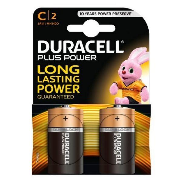 Duracell Pilas Alcalinas Plus Power LR14 C 2 unidades