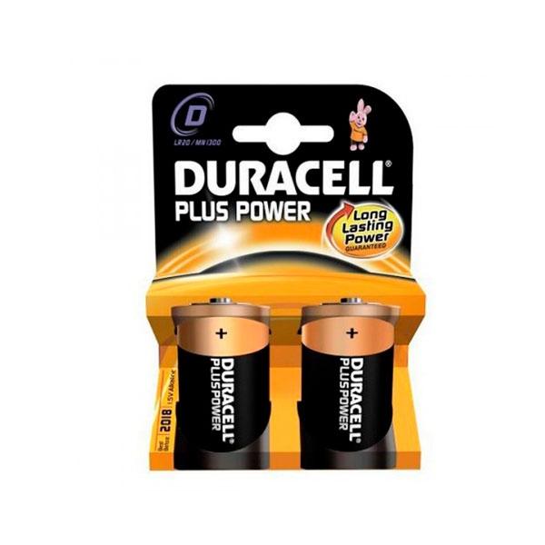Duracell Pilas Alcalinas Plus Power D 15V 2 unidades