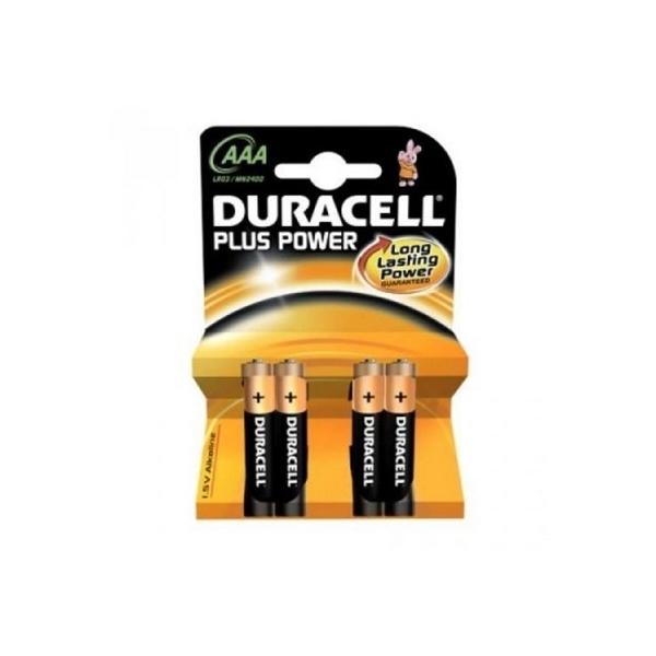 Duracell Pilas Alcalinas Plus Power AAA 1.5V 4 unidades