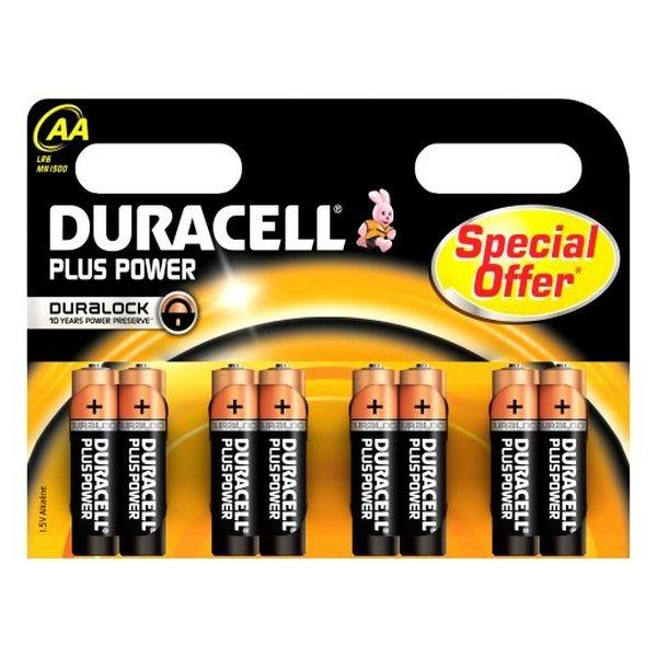 Duracell Pilas Alcalinas Plus Power AA 15V 8 unidades