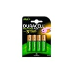 Duracell Pilas Recargables Recharge Plus AAA 750mAh 4 uds