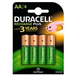 Duracell Pilas Recargables Recharge Plus AA 1300mAh 4 uds