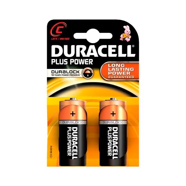 Duracell Pilas Alcalinas Plus Power C 1.5V 2 unidades