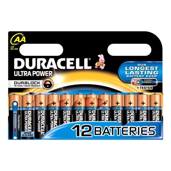 Duracell Pilas Alcalinas Ultra Power AA 1.5V 12 unidades